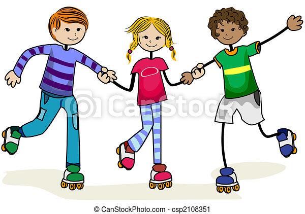 Roller Skate Kids - csp2108351