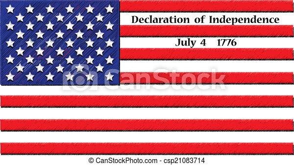 Vector Clip Art Of Declaration Of Independence Vector