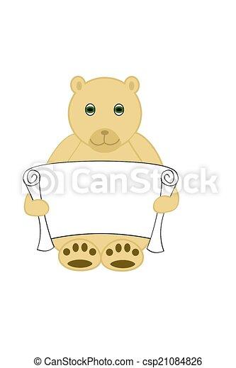 Bear Holding Scroll - csp21084826