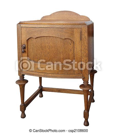 antikvitet, Trä, kabinett - csp2108600