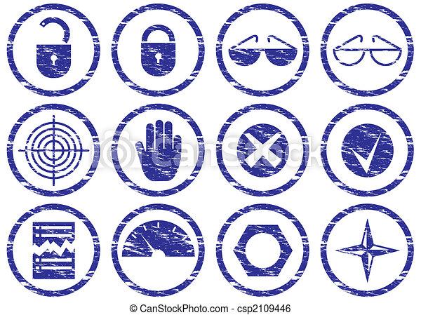 Gadget icons set. - c