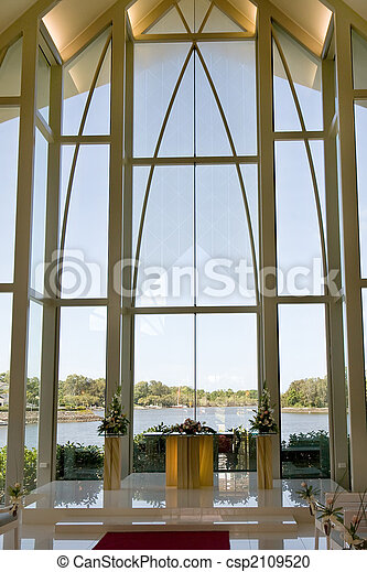 Modern wedding chapel - csp2109520