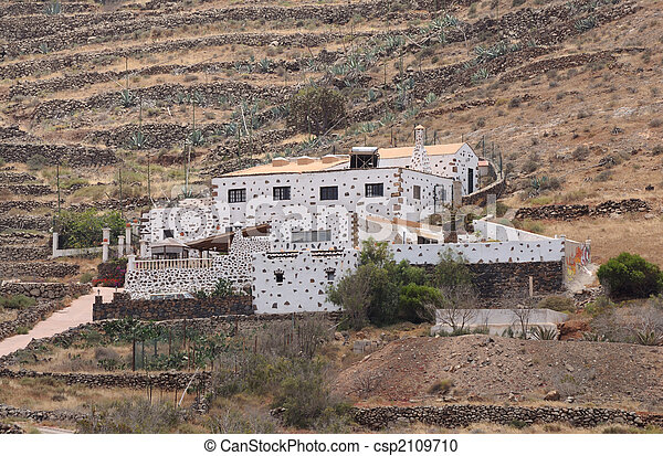 Rural villa on Canary Island Fuerteventura, Spain - csp2109710
