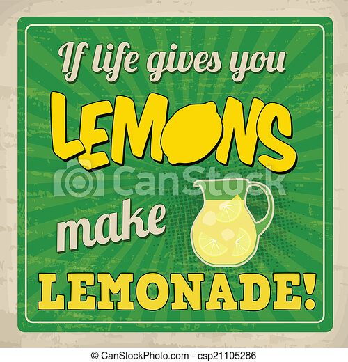 vector of if life gives you lemons make lemonade retro lemonade clip art images lemonade clip art free