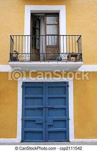 Ibiza Mediterranean island architecture houses - csp2111542