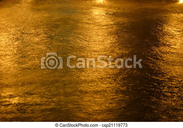 Night sea water close up. Top view