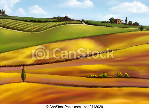 Tuscany hills - csp2113029