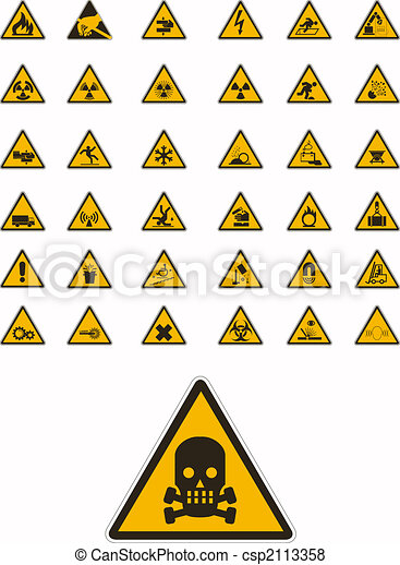Warning and safety signs - csp2113358