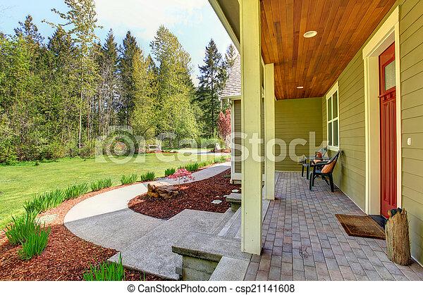 photo campagne maison ext rieur vue entr e porche frein appe image images photo. Black Bedroom Furniture Sets. Home Design Ideas