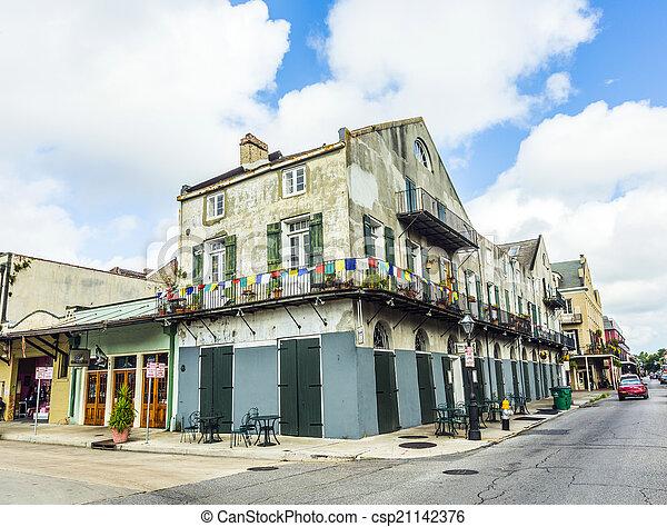 建物, 四分の一, 歴史的, フランス語 - csp21142376