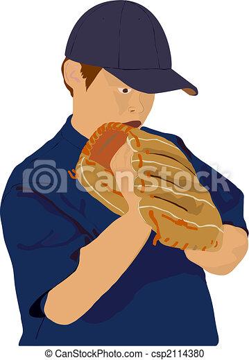 Little League Pitcher - csp2114380