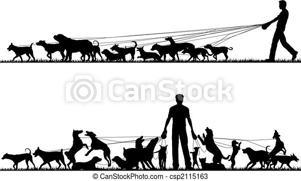 Dog walker - csp2115163