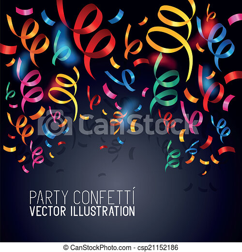 Party Confetti Drawing Party Confetti Vector