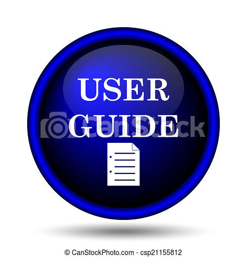 Clipart of user guide icon internet button on white for Vector canape user manual
