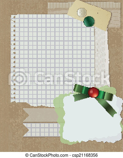 scrapbooking christmas design - csp21168356