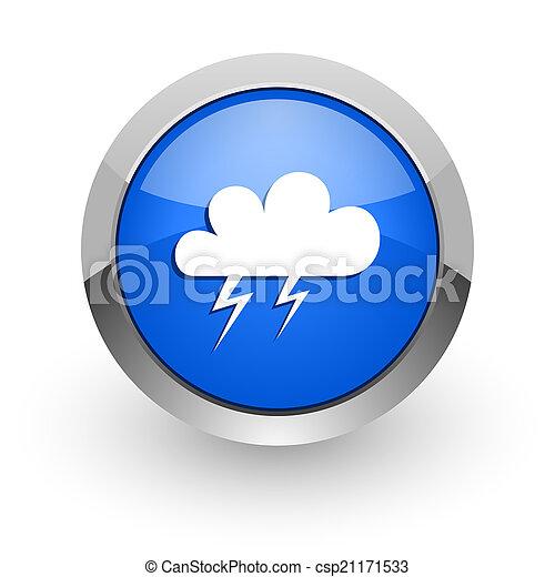 storm blue glossy web icon - csp21171533
