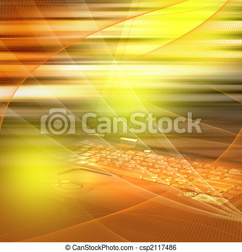 Cool Computer  Background - csp2117486