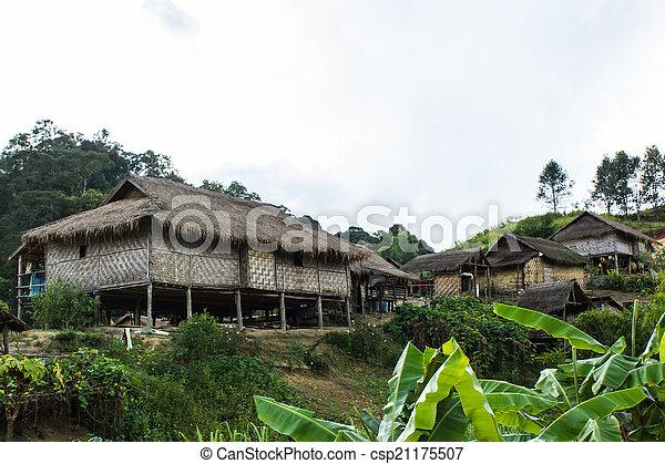 Hilltribe village, Shan State, Myanmar (Burma)  - csp21175507