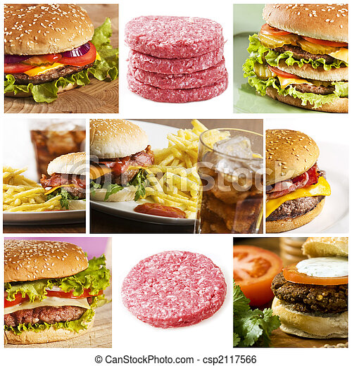fast food collage - csp2117566