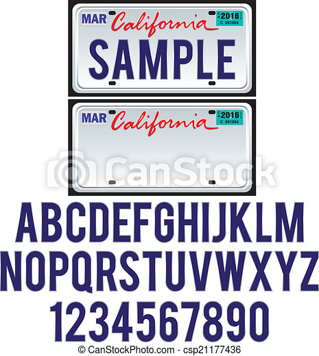 vectors of california license plate csp21177436 search clip art illustration drawings and. Black Bedroom Furniture Sets. Home Design Ideas