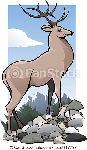 Deer oh my dear - csp2117797