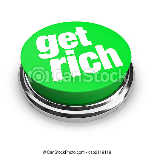 Get Rich - Green Button - csp2119119