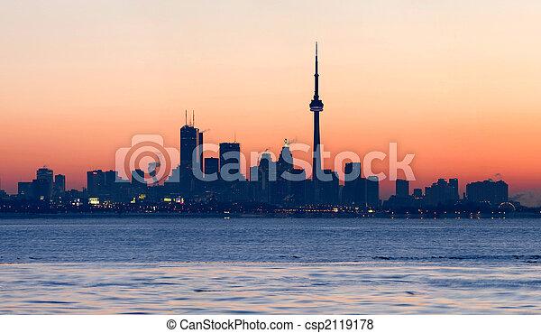 Toronto Skyline at dawn - csp2119178