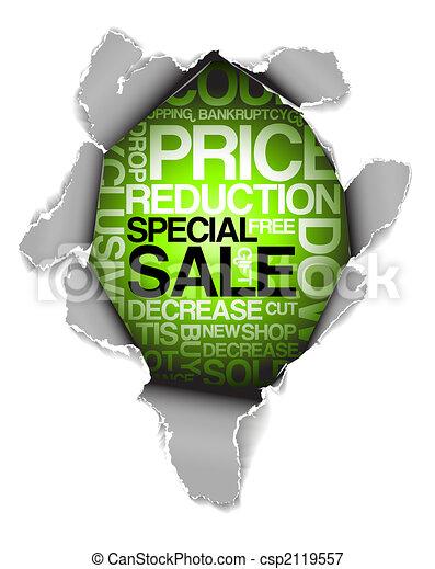 Sale discount advertisement - csp2119557