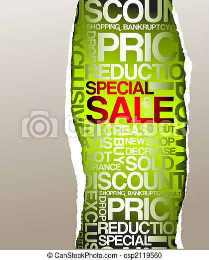 Green sale discount advertisement - csp2119560