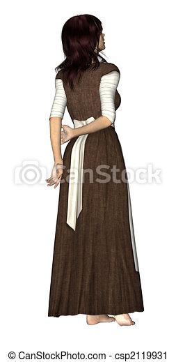 Woman Peasant - csp2119931