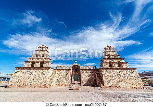 San Cristobal, Bolivia, Church - csp21207467