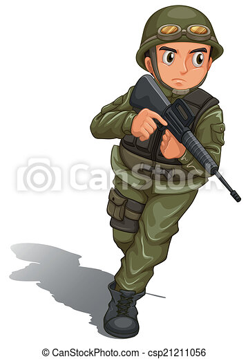 clipart vector of a brave soldier fighting illustration person running late clipart person running fast clipart