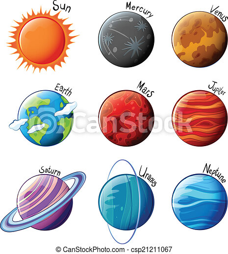 the 9 planets clip art - photo #14
