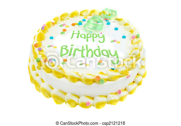 Happy birthday  festive cake - csp2121218