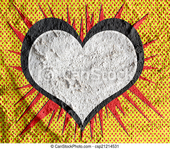 연설, 거품, 전당 잡히다, 예술, 시멘트, 벽,... csp21214531의 그림 ...