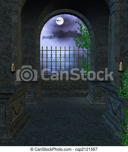 Inside the Mausoleum - csp2121567