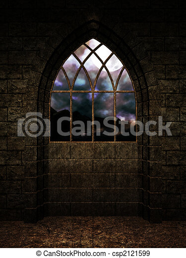 Interior Castle Background - csp2121599