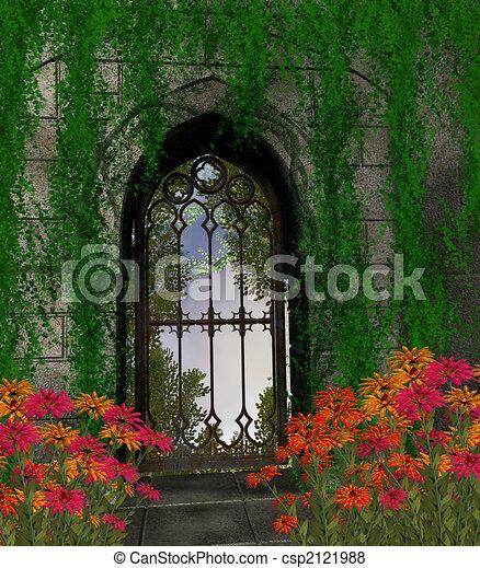 Garden Background - csp2121988