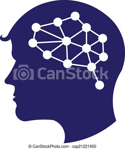 Concept of network brain logo - csp21221450