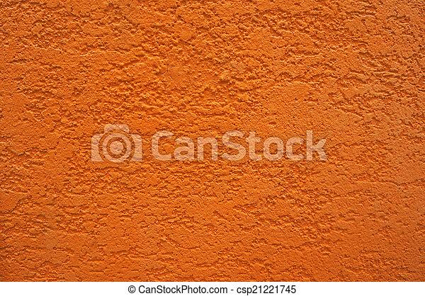 Side of orange wall - csp21221745