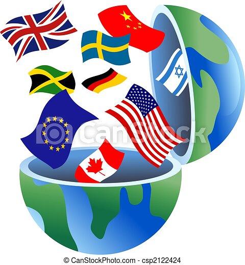 flag globe - csp2122424