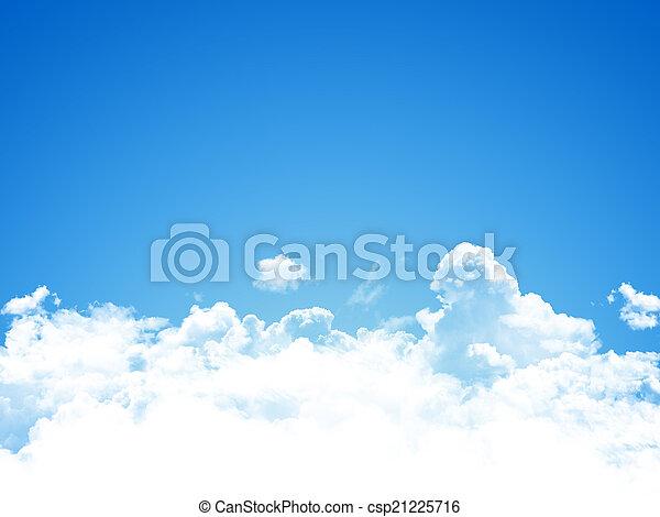藍色, 天空, 背景 - csp21225716