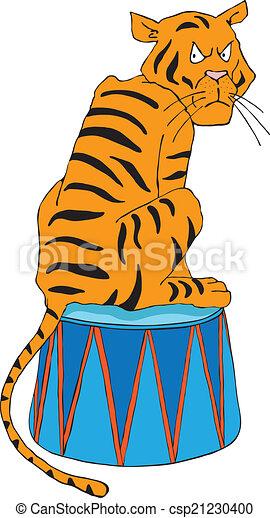 Vintage Circus Tiger Clipart