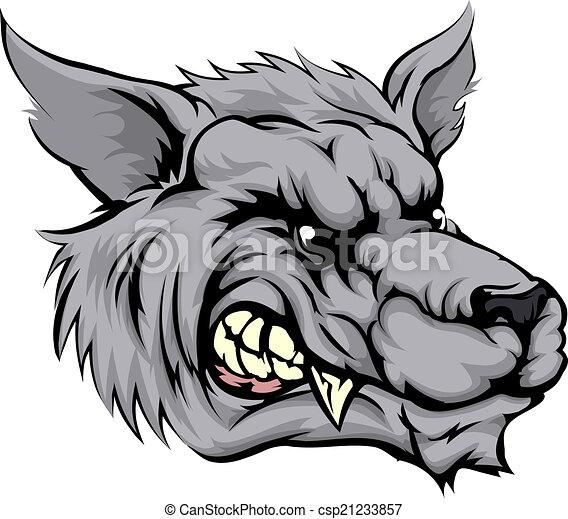 Fierce Wolf Clip Art