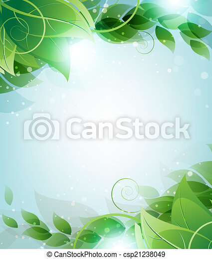 Branch with leaves - csp21238049
