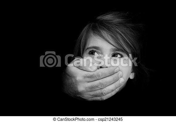 Child abuse - Concept Photo