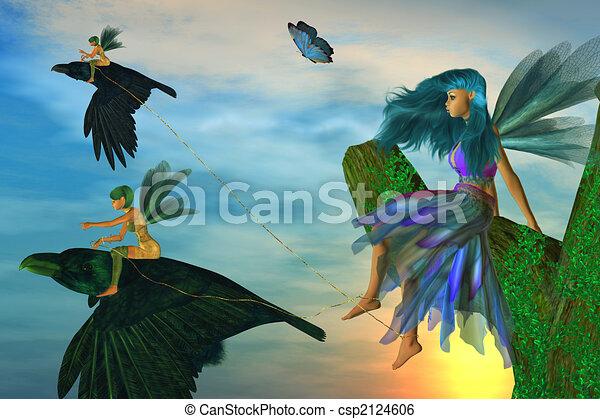Fairy Flyers - csp2124606