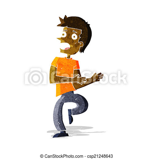 EPS Vector of cartoon stressed out man csp21248643 ...