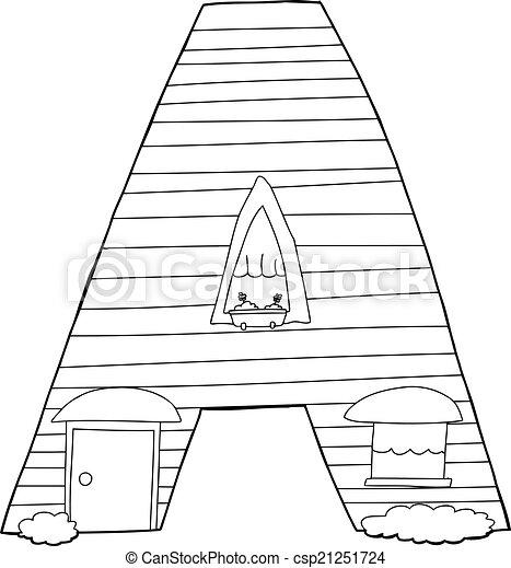 Letter A Cartoon - csp21251724