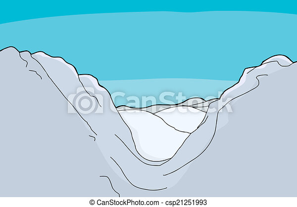 EPS Vectors of Mountain Valley Background - Winter ...